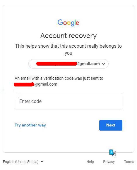 masukkan kode verifikasi yang dikirim gmail pada email pemulihan